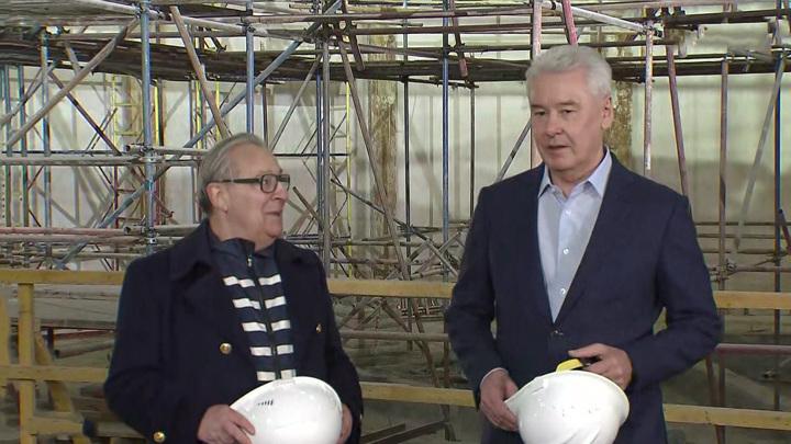 Собянин рассказал, когда завершится реставрация Театра эстрады