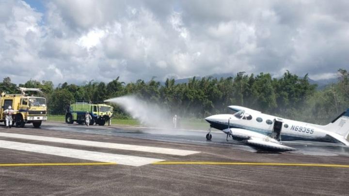 Экстремальная посадка конфискованного самолета попала на видео