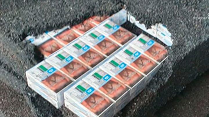 На Балтийской таможне пресекли контрабанду 3 тонн пачек белорусских сигарет