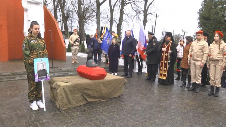 В Приморске прошла церемония перезахоронения солдата Великой Отечественной