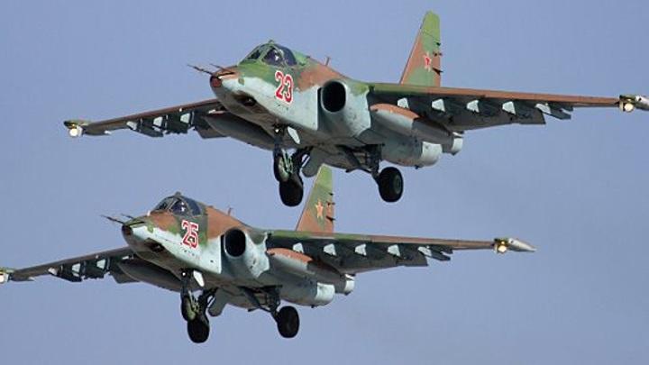 Корабли Черноморского флота и штурмовики Су-25 провели совместные учения