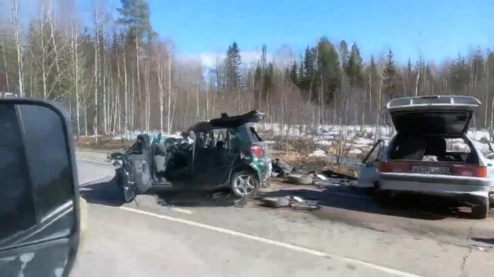 Страшное ДТП в Прикамье, погибли пять человек