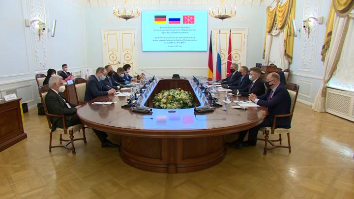 Губернатор Петербурга и обер-бургомистр Дрездена обсудили сотрудничество