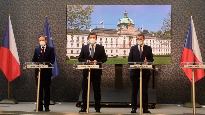 Пресс-конференция в Праге по ситуации вокруг дипломатов России и Чехии