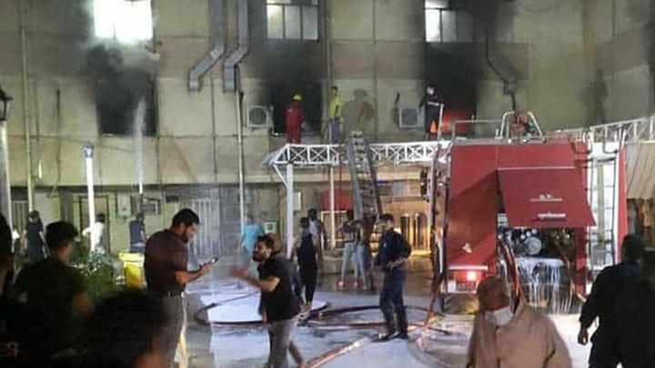 Пожар в больнице Багдада распространился всего за три минуты