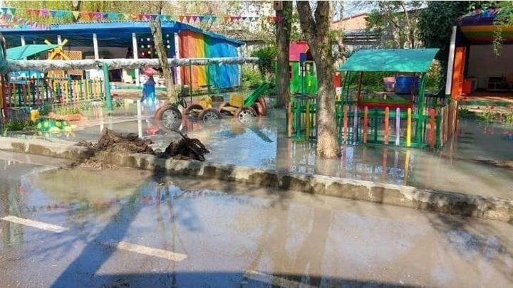 На Кубани детский сад затопило токсичными отходами