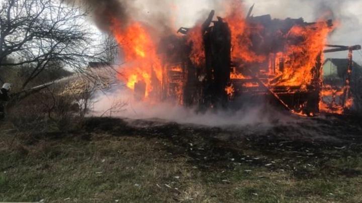 Под Владимиром дотла сгорел частный дом