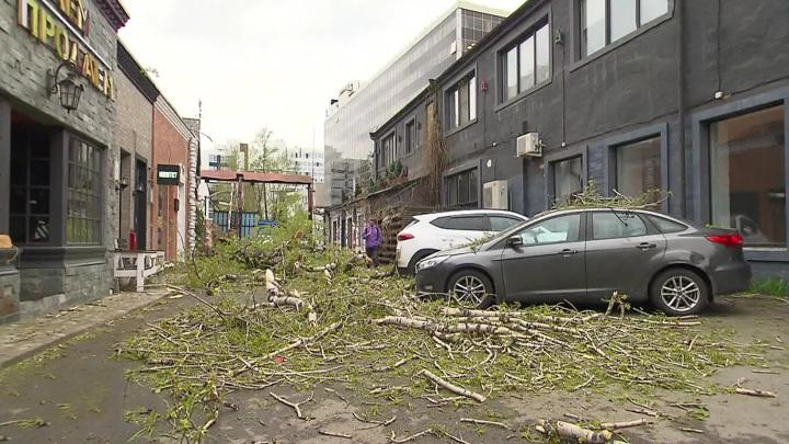 По Москве пронесся ураганный ветер