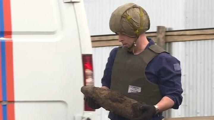 В Орле при строительстве школы нашли 122-миллиметровый артиллерийский снаряд