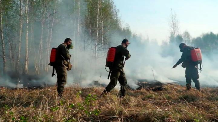 Военные спасли от огня пять населенных пунктов в Тюменской области