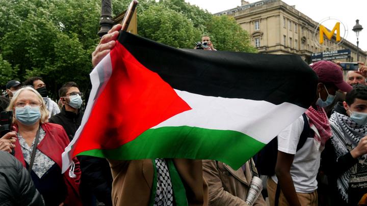 В Париже полиция применила водометы на акции в поддержку Палестины