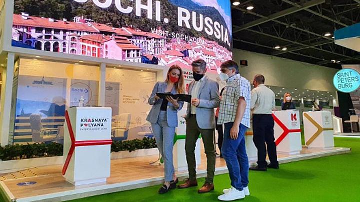 Курорт Сочи презентовали на туристической выставке в Дубае