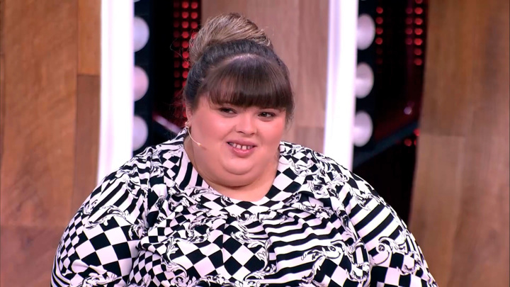 """Кадр из программы """"Прямой эфир"""". """"Минус 26 кг. за месяц"""": вес самой тяжелой женщины сдвинулся с мертвой точки"""