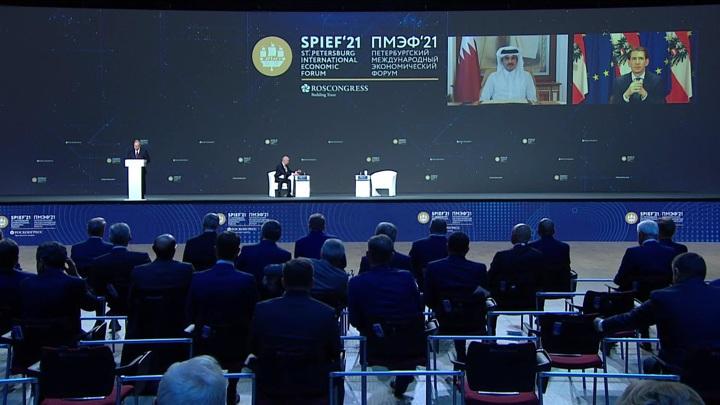 Путин поприветствовал участников и гостей ПМЭФ