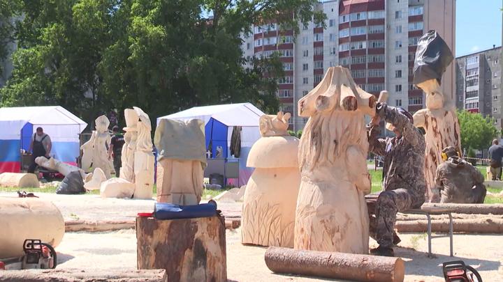 Первый фестиваль деревянных скульптур проходит в Череповце