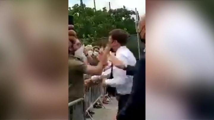 Во Франции начался суд над мужчиной, который ударил Макрона