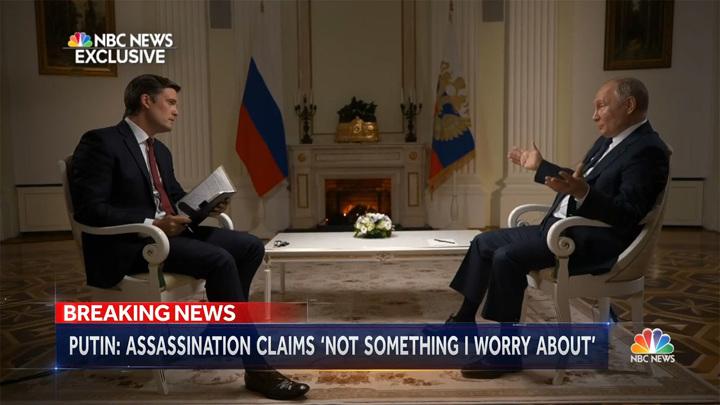 Интервью Путина американскому ТВ: опубликован фрагмент беседы