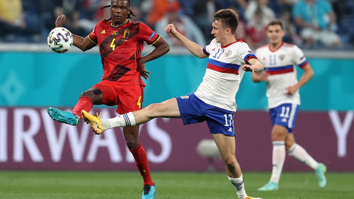 Россия проигрывает Бельгии после первого тайма