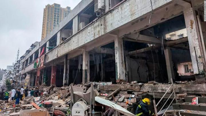 На рынке в провинции Хубэй прогремел взрыв