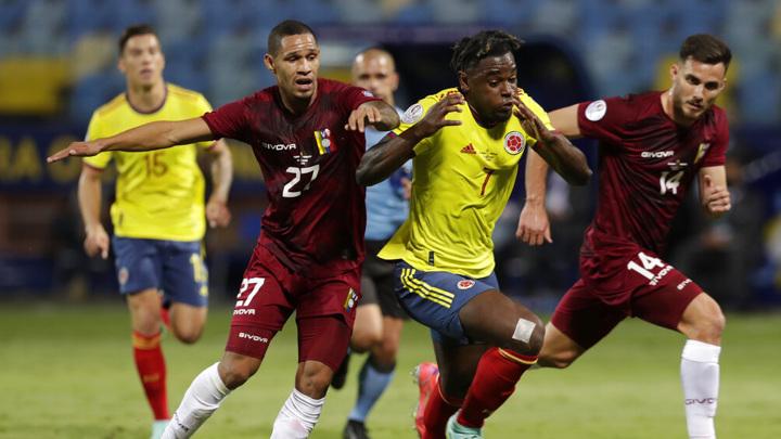 Колумбия и Венесуэла не выявили победителя в матче Кубка Америки