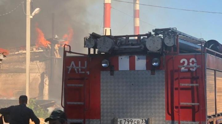 Пожар на производстве пиломатериалов под Владимиром произошел из-за взрыва газа