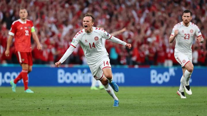 Россия – Дания – 0:1. Дамсгор открыл счет