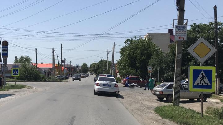 Подросток за рулем мотоцикла пострадал в ДТП в Азовском районе