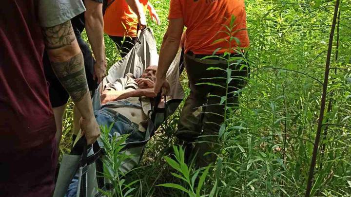Под Нижним Новгородом спасли пенсионера, пролежавшего 5 дней в лесу