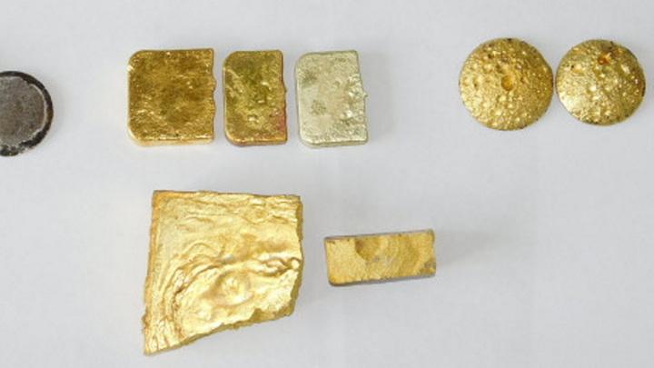 Россиянин пытался вывезти в Китай 12 слитков золота
