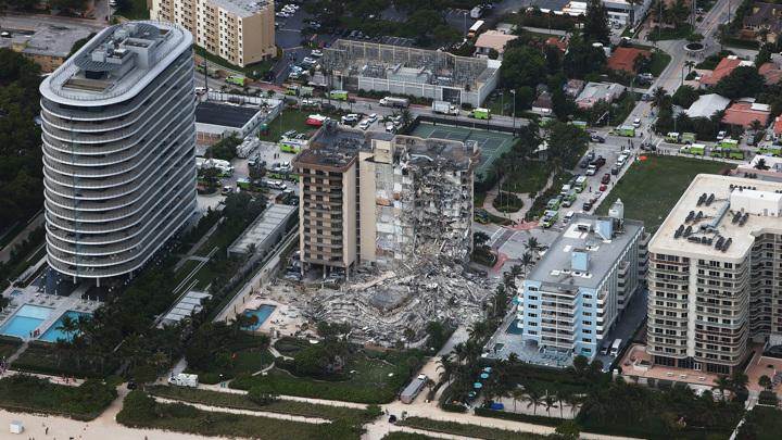 Число жертв обрушения во Флориде возросло до 86
