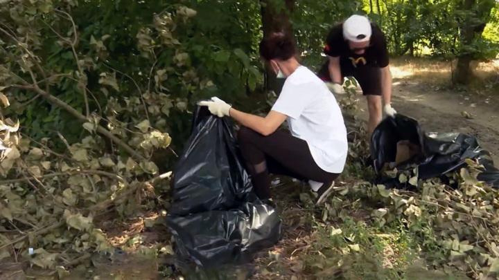 С Зеленого острова на Дону вывезли 1,5 тонны мусора