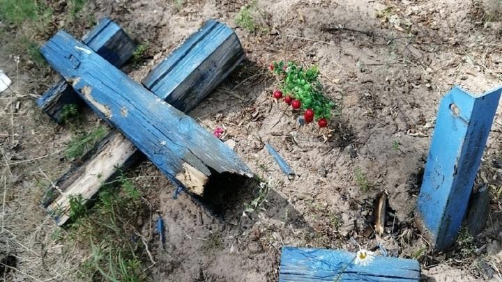 В Марий Эл вандалы разгромили кладбище