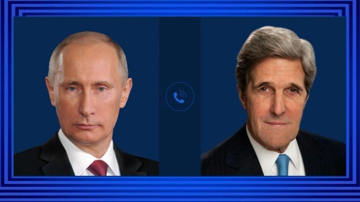 Путин провел телефонный разговор с Джоном Керри
