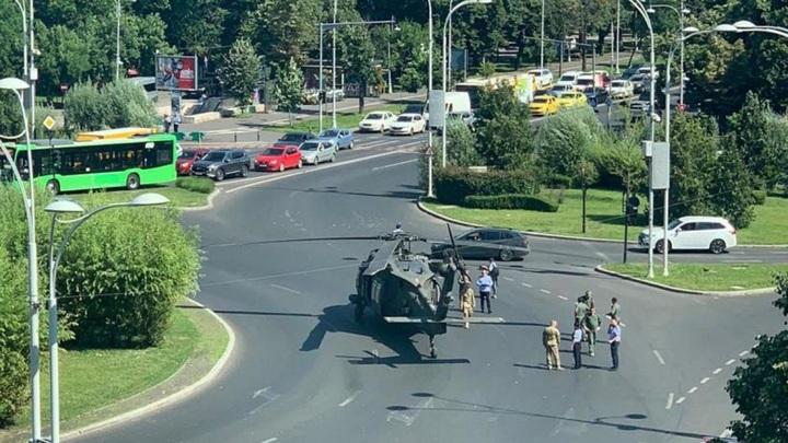 Вертолет ВВС США аварийно приземлился в центре Бухареста