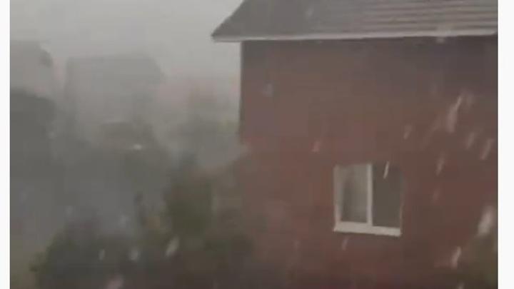 В Самарской области сняли на видео буйство стихии