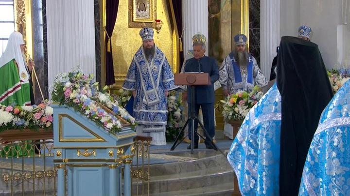 Патриарх наградил Шаймиева и Минниханова за Собор Казанской иконы Божией Матери
