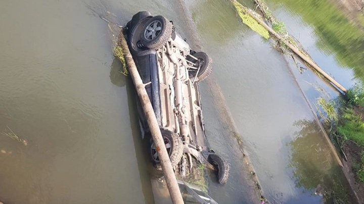 Тела двух мужчин обнаружили в затонувшей машине