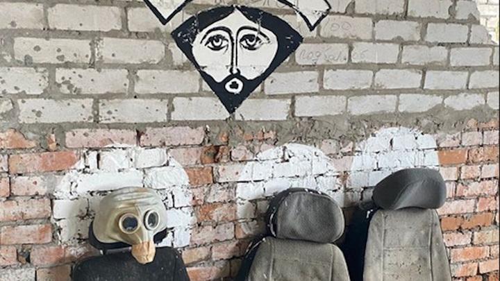 """Арт-объект на выставке """"Коровник"""""""