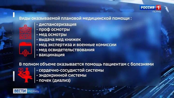 В Пермском крае приостановлено оказание некоторых видов плановой медпомощи