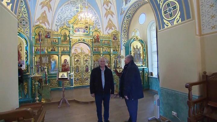 Путин посетил Коневский монастырь на острове в Ладожском озере