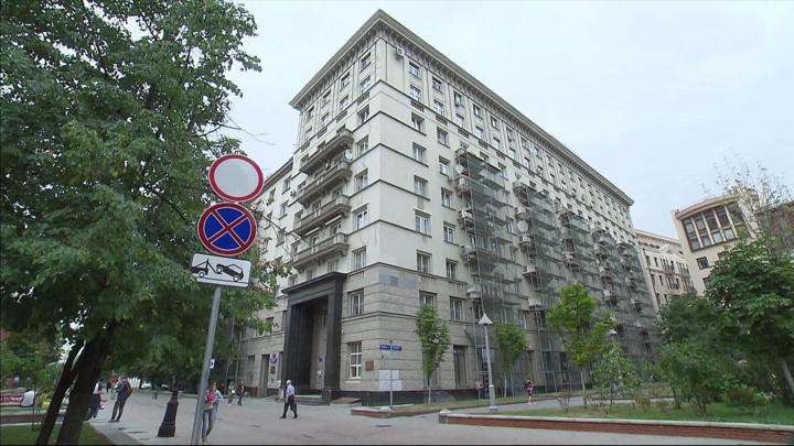 В Доме писателей в Лаврушинском переулке продолжается капитальный ремонт