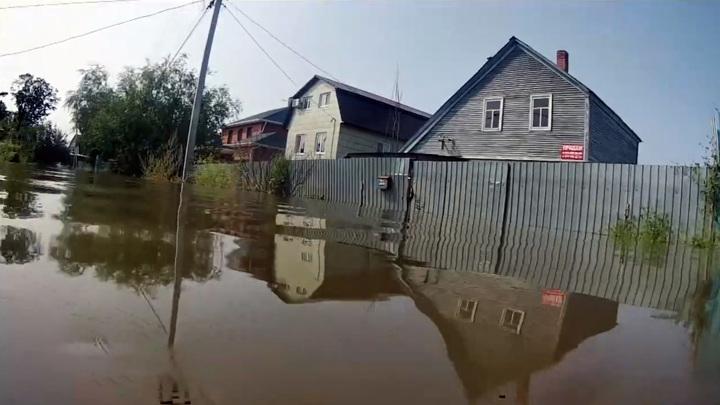 Уровень реки Амур у Хабаровска превысил опасную отметку в 600 см