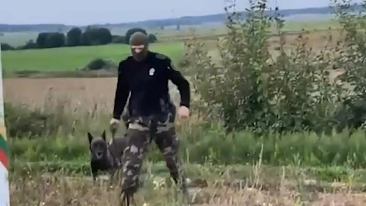 Литовские пограничники натравили на беженцев собаку