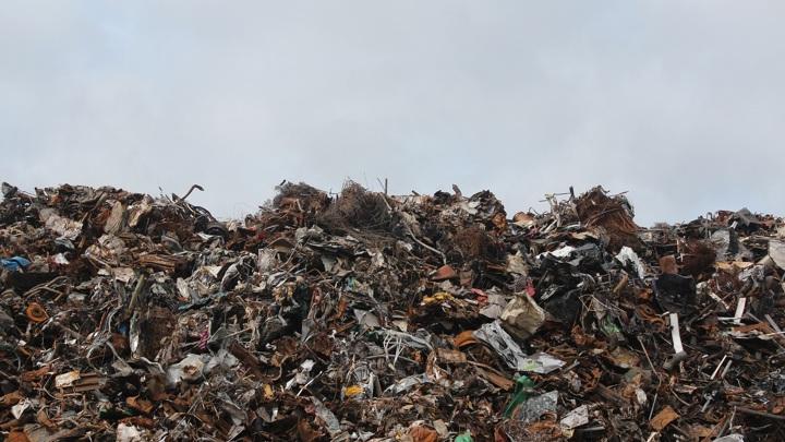 В Биробиджане со двора одного из домов уже год не вывозят мусор