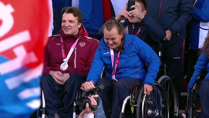 На Красной площади состоялось чествование российских паралимпийцев