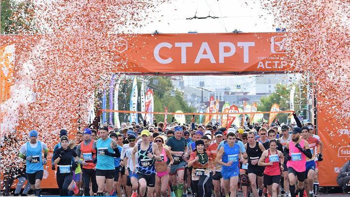 В центре Уфы прошел международный марафон