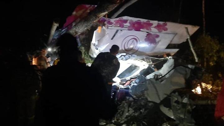 Появились первые фото и видео с места крушения самолета в Иркутской области