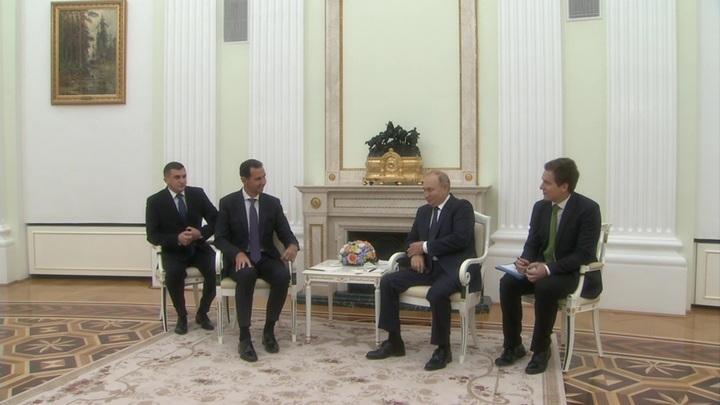 Путин и Асад провели переговоры в Кремле
