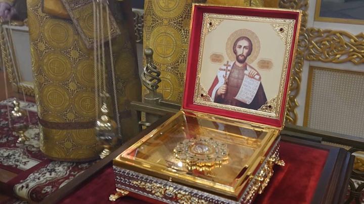 В Ульяновск прибыл ковчег с мощами святого Александра Невского