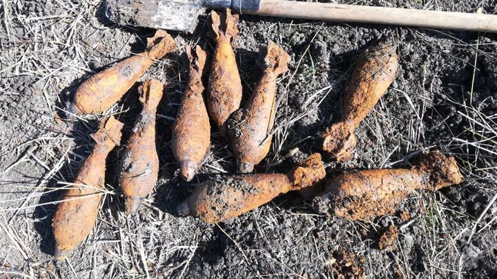 На Кубани нашли и уничтожили 160 боеприпасов со времен войны